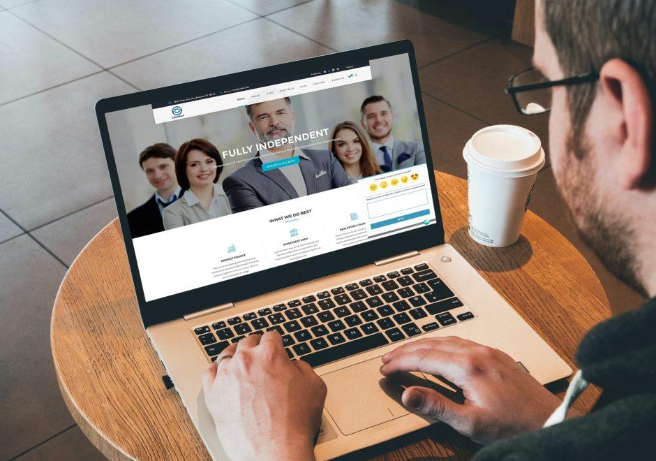 company website home
